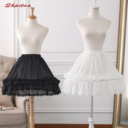 $enCountryForm.capitalKeyWord Australia - White or Black Lolita Petticoat Rockabilly Short Petticoats for Wedding Underskirt Crinoline Woman Hoop