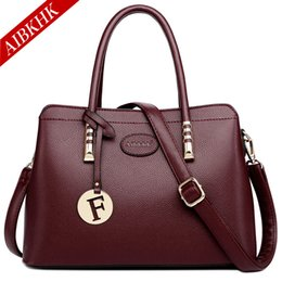 Handbags For Ladies Red Color Australia - Genuine Leather Crossbody Bags for Women 2018 Designer Luxury Brands Handbags Ladies Shoulder Bag Fashion Soft Black Casual Tote