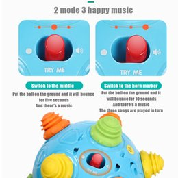 Wholesale Endless Fun Gift Jumping Excercise Bouncing Sensory Early Learning Music Shake Baby Toddlers Vibrating Move Dancing Ball Toy