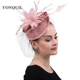 $enCountryForm.capitalKeyWord NZ - Elegant bridal mesh feathers hair fascinators women hats hair clips ladies derby wedding headwear headbands veils race headpiece free ship