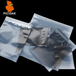 $enCountryForm.capitalKeyWord NZ - 7x11 cm Anti-static shield zipper Bone ziplock plastic Packaging Bag electronic Optical drive Components Hardware Circuit IT IC Pcb boar