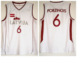 Kristaps Porzingis Jersey 6 Men Moive Basketball White Latvija Jerseys  Cheap Sale For Sport Fans University Pure Cotton Free Shipping dec2cd87a