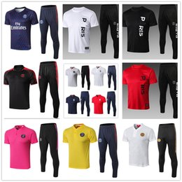 Uniform Polo Australia - 19 20 new psg mbappe paris GRIEZMANN soccer polo tracksuit chandal futbol survêtement de football survetement homme foot training suit