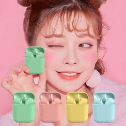 $enCountryForm.capitalKeyWord Australia - Inpods 12 Frosted Feel Touch Control Pop up Window Connection TWS 5.0 Stereo Mini Wireless Bluetooth Earphone For iPhone Android