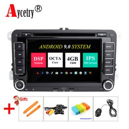 volkswagen passat gps Australia - DSP IPS 2 Din Android 9 Car dvd Multimedia player GPS For VW Volkswagen GOLF 5 6 Polo Passat CC B6 B7 Skoda SEAT Leon Radio