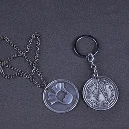 Cosplay Coins Australia - Game of Thrones Faceless Coin KeyChain Necklace A Song of Ice and Fire Valar morghulis Jaqen H'ghar Aaliyah Badge Cosplay Gift