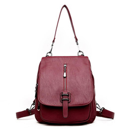 $enCountryForm.capitalKeyWord Australia - good quality Large Capacity Fashion Backpack For Female Classic Pu Leather Rucksack For Women Solid Color Chinese Style Backpack
