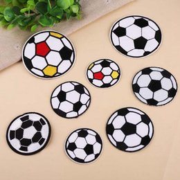 soccer badges patches Canada - 8P-101 High quality 3d Football Iron On Patches soccer sports embroidered sew on patch for clothing kids cartoon badge can customer design