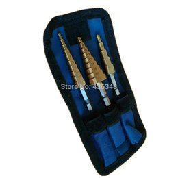 "$enCountryForm.capitalKeyWord UK - cone step 3pcs Metric 4-12 4-20mm 3-12mm Titanium Stepped Down Bit Cone Step Drill Bit Quick Change 1 4"" Hex Shank"
