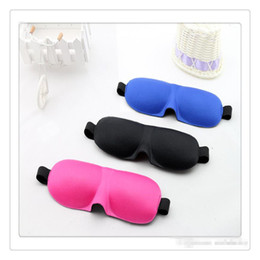 Wholesale 3D Eye Aid Mask Travel Sleep Masks Rest Eye Shade Cover Blindfold Travel Rest D Sponge Sleeping Eye Masks Blindfold Travel Eyepatch