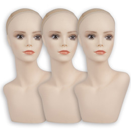 1 Piece Hot Sale 2 Models Available PVC Mannequin Head Sale For Wigs Jewelry And Hats Display on Sale