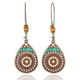 $enCountryForm.capitalKeyWord Australia - Vintage Boho India Ethnic Water Drip Hanging Dangle Drop Earrings for Women Female 2018 New Wedding Party Jewelry Accessories