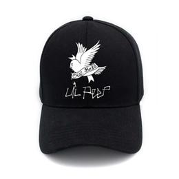 858ca44195b55f Unisex Curved Visor Hat Lil Peep Cry Baby Logo Men Women Plain Baseball Cap  Solid Color Hip-Hop Adjustable Peaked Hat