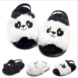 $enCountryForm.capitalKeyWord Australia - Infant Baby Bow Girls Dress sandals wool Cute animal Anti-slip sole Baby moccasins Toddler Baby girls shoes