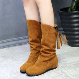 $enCountryForm.capitalKeyWord Australia - 2018 High Quality Small leg High Boots Women Suede Leather Small leg Winter Boots Comfortable Warm Fur Women Long Boots Shoes888