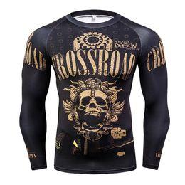$enCountryForm.capitalKeyWord Australia - New Skull Punisher Marvel Tight Men T Shirt Superhero 3D T-Shirt Fitness Clothing Men Tshirt Compression Long Sleeve Tee Shirt
