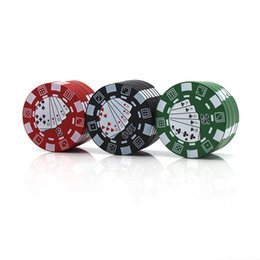 Discount poker accessories - 3 Layers Poker Chip Style Herb Herbal Tobacco Grinder Grinders Smoking Pipe Accessories gadget Red Green Black 12pcs lot