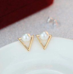 c7cf0abfb 2019 design fashion brand jewelry simple Triangle Geometry stud earing gold  Metal earring for women