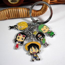 Pendants Anime One Piece Australia - ONE PIECE Anime Keychain Monkey D. Luffy Fashion Cosplay Accessories Colorful Pendant for Men Women Gift