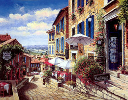 mediterranean canvas art NZ - SUNG SAM PARK Landscape Mediterranean Oil Painting Reproduction Printed On Canvas Living Room Bedroom Wall Picture Art Home Decor Spk028