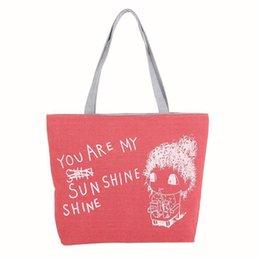 Cute Canvas Handbags Australia - Cheap Fashion 2019 Fashion Cute Printing Women Canvas Bags Shoulder Bag Casual Handbag Fashion Female Bag Shoulder Bags Compos 18JUNE6