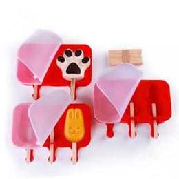 $enCountryForm.capitalKeyWord Australia - Ice Cream Mold Oval Silicone Ice Cream Molds Rabbit Bear Paw Popsicle Molds Ice Tray Cube Tools Frozen Mold