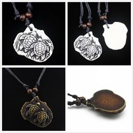 $enCountryForm.capitalKeyWord Australia - Cute Tribal Resin Double Beach Turtles Choker Pendant Necklace Charm Jewelry Black Rope Gift Decor Free Shipping