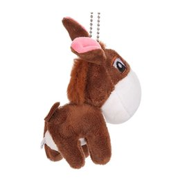 donkey dolls Canada - Plush Pendant Cute Little Donkey Pendant Little Donkey Keychain Fun Plush Doll Children Toy Gift FH5