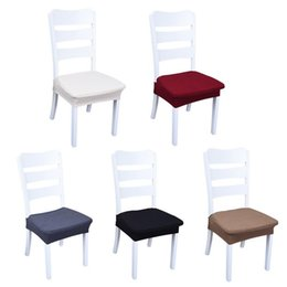 Discount simple chair covers - 1PCS Household items waterproof chair cover fabric simple stretch split stool seat cover Elastic Stool Towel Chair Cover