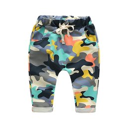 Camouflage pants for boys online shopping - 2018 New Toddlers Baby Boy Pants Kids Harem Pants Camouflage Children Pants Kids Cotton Warm Boys Girls Trousers for
