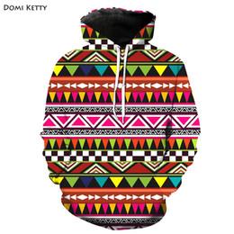 triangle sweatshirt 2019 - Domi ketty boys girls hoodies clothes print colored triangle children long sleeve sweatshirts kids baby casual outwear t