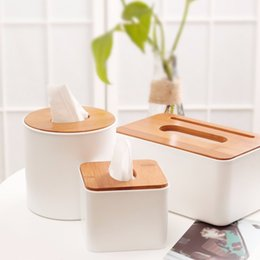 bamboo napkin holder NZ - Home Kitchen Wooden Plastic Tissue Box Solid Wood Napkin Holder Case Simple Stylish 2018 New