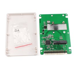 """Discount ssd ide laptop - mini sata New ST6008C Mini SATA mSATA SSD to 44pin IDE adapter with case as 2.5\"""" HDD SINTECH #74203"""