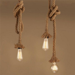 $enCountryForm.capitalKeyWord NZ - Vintage Rope chandelier E27 Industrial Loft Rope LED Ceiling Pendant Lamp for Interior Cafe Restaurant Bar Corridor Decoration Lighting