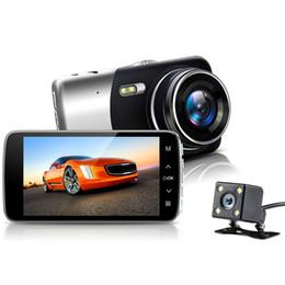 "4"" Full HD 1080P Car DVR Auto Video Dual Camera Driving recorder Night Vision G-senso 170 Wide Angle Box Dash Camera from hd infrared wide angle camera suppliers"