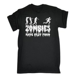 $enCountryForm.capitalKeyWord Australia - Zombies Hate Fast Food T-SHIRT White Outbreak Horror Dead Evil Gift Birthday