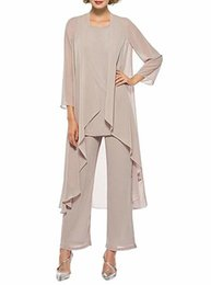 $enCountryForm.capitalKeyWord UK - Women's Three Pieces Mother Of The Bride Pant Suits With Long Jacket Custom Made Casual Mother Of Bride Dress Q190428