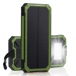battery free cell phone charger Australia - free shhipping Solar Power bank Mobile Phone Power Bank Cell Portable Charger Battery External
