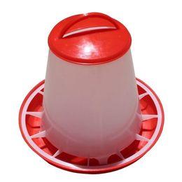 $enCountryForm.capitalKeyWord Australia - Drinking Bowl For Chickens Red White Plastic Feeder Baby Chicken Chicks Hen Poultry Feeder Pet Supplies