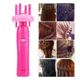 $enCountryForm.capitalKeyWord Australia - Electric Hairstyle Tool Hair Weave Roller Braider Device Kit Braid Machine for Women Girls ABS Portable Automatic