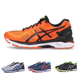 d78a7578b3c 2019 Asics Gel-Kayano 23 T646N Mens Running Shoes Orange Gray Green Blue  Black Top Quality Designer Shoes Sport Sneakers 36-45