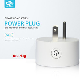 Wifi Home Automation Australia - Smart Wifi Socket Mini US Power Plug Mobile APP Remote Control Power Strip Timing Switch for Home Automation Electronic System