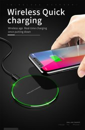 $enCountryForm.capitalKeyWord Australia - Hot Selling Qi Wireless Charger For iPhone 8 X XR XS Max QC3.0 10W Fast Wireless Charging for Samsung S10 S9 S8 Note 8 9 S7 USB Charger Pad