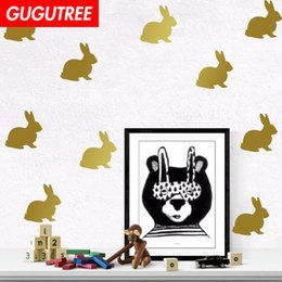 green rabbit cartoon Australia - Decorate Home rabbit cartoon art wall sticker decoration Decals mural painting Removable Decor Wallpaper G-1808