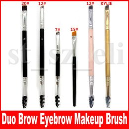 Duo Brush #12 #7 #15 #20 Makeup Brushes Large Synthetic Duo Brow Eyebrow Makeup Brushes Kit Pinceis