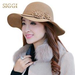 f7f40137a2b Siggi Hat Australia - SIGGI 100% Wool Women Fedora Felt Hat Solid Floppy  Fashion Vintage