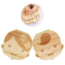 Großhandel Laubwechselnde Kinderzahnkiste, Zahnsammel- und Aufbewahrungsbox, Fötushaarsammelbox, Gedenkkiste aus massivem Holz als Zahnersatz