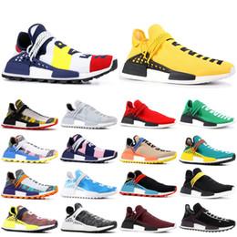 Boys gold sneakers online shopping - PW HU NMD Nerd Running Shoes Human Race Heart Mind Billionaire Boys Club Pharrell Williams Men Women Designer Sport Sneakers