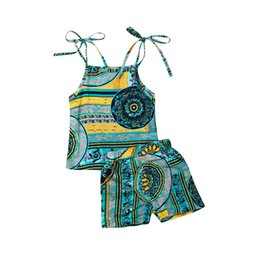 $enCountryForm.capitalKeyWord Australia - Kids Girls Clothing Sets Summer New Style Brand Baby Girls Clothes Sleeveless T-Shirt+Shorts 2Pcs Children Clothes Suits