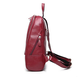 Red mini laptop online shopping - Bolish Pop Sale Pu Leather Women Backpack Fashion Preppy Style School Bag Girls Laptop Rucksack Soft Leather Women Bag